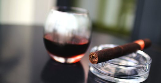 cigars & wine